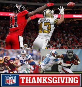 saints vs falcons thanksgiving nfl